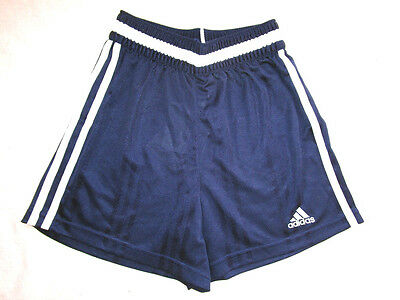 New ADIDAS Vtg Oldschool Shiny Running Gym Football Shorts Blue sz 158 cm 13 yr