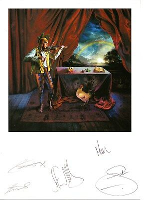 Marillion - Autographs. Pete, Ian, Mark, Steve, and Fish!!! Excellent Condition.