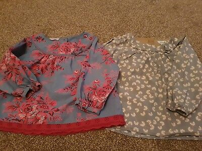 2 x blouse/smock tops 18-24 months