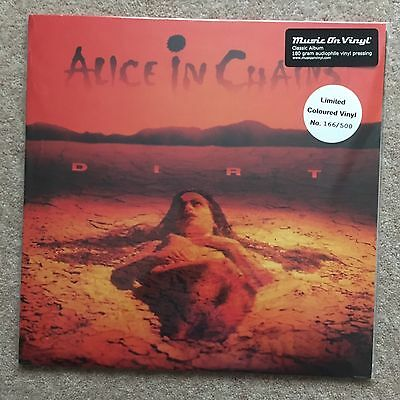 ALICE IN CHAINS – Dirt – AUDIOPHILE NUMBERED RED LP (LTD 500) – VINYL Near Mint