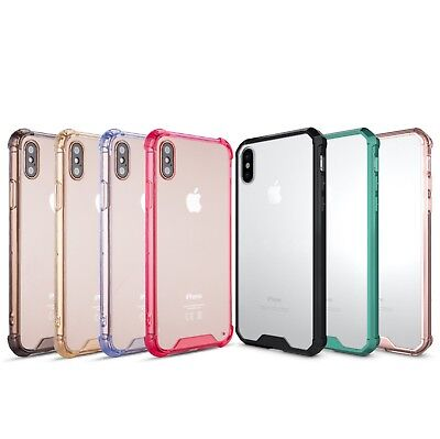AIR HYBRID Case iPhone X XR XS MAX 7 8 & Plus Clear Acrylic Hard Back CORNER