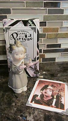 New Kim Anderson Pretty As A Picture Figurine Girl Candles You Light Up My Life