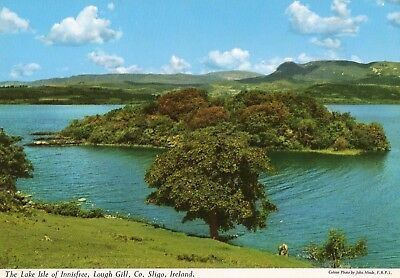 The Lake Isle Of Innisfree Lough Gill Co Sligo Ireland John Hinde Irish Postcard