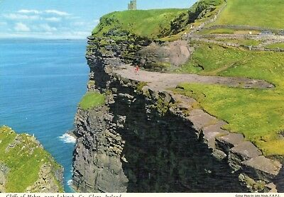 CLIFFS of MOHER near LAHINCH Co. CLARE IRELAND JOHN HINDE POSTCARD No. 3/39