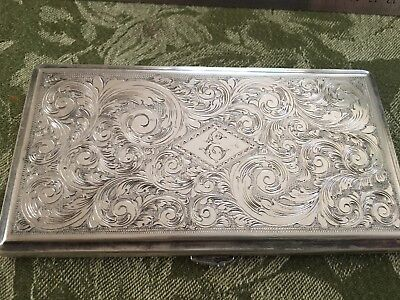STERLING 950 KUYEDA vintage cigarette case