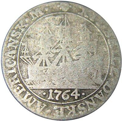 Danish West Indies 12 Skilling 1767 Silver  Shiff Sailing Ship