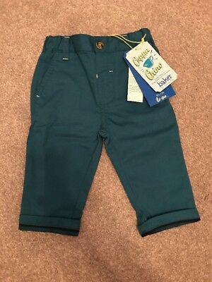 Ted Baker Baby Boy 6-9 Months Formal Blue Chinos - NEW W/ TAGS / Turquoise