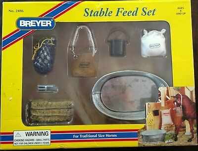 Breyer Horse Traditional Stable Feed Accessories Set New In Box