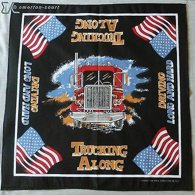 Bandana - scarf - Trucking Along - Bandanna - Driving Long and Hard Flag Poster