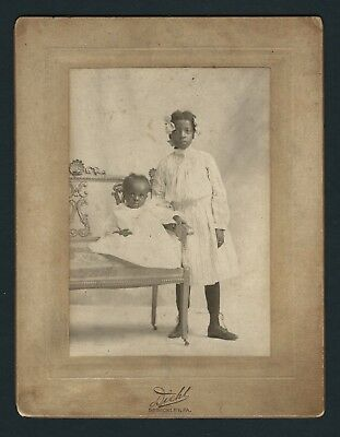 Antique African American Cabinet Photo Black Americana Girl & Baby Sewickley, PA
