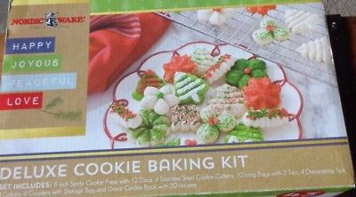 Nordic Ware Deluxe 43 piece Spritz Cookie Baking Kit  - New in Package