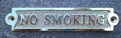 Solid Brass NO SMOKING Sign Plaque Nautical Ship Boat Decor NEW FREE SHIPPING #2