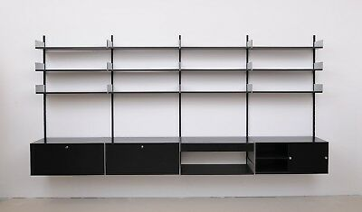 dieter rams regalsystem 606 by vitsoe sdr aluminium schwarz eur 890 00 picclick de. Black Bedroom Furniture Sets. Home Design Ideas
