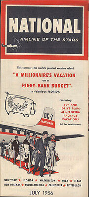 National Airlines system timetable 7/56 [5023]