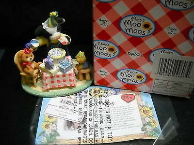 Mary's Moo Moos Party Time With Moo*sty#119209 Ix6Mm374 W/box Cake Topper