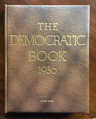 President Franklin D. Roosevelt Signed 1936 Democratic Book