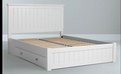 4FT6 White Primrose Rattan Double Bed Frame, RRP £1249