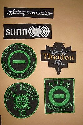 TYPE O NEGATIVE THERION SENTENCED SUNNO))) LOGO Embroidered PATCH