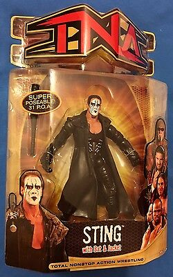TNA Wrestling Figure by Marvel Toys - Sting (Series 7) not wwe Mattel
