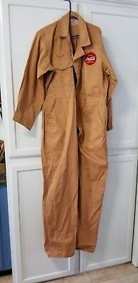 Vintage (50's ?) Coca Cola full length coverall style uniform with matching hat