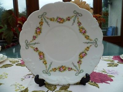 Vintage / Antique Collingwood's China Cake Sandwich Plate Ribbons & Bows York