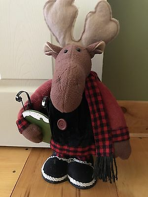 "19"" Tall Moose Doorstop Home Decor Statue Winter Lodge Outdoor Theme"