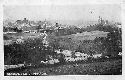 General View Of Armagh Ireland Vintage Irish Postcard