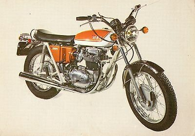 Bsa A 65 L-Lightning Motorcycle Postcard Printed In Paris Unposted