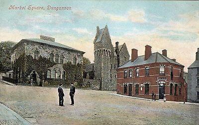 Market Square Dungannon Co. Tyrone Ireland Valentines Series Vintage Postcard