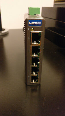 Moxa EDS-205 unmanaged Ethernet switch with 5 10/100BaseT(X) ports