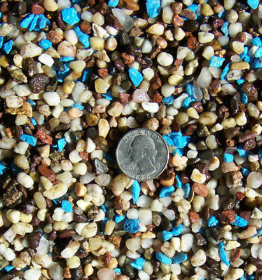 "Fish Tank Gravel 1/8""-1/4"" river rock and blue 2lbs"