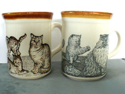 Vintage Biltons Cats & Kittens Coffee/Tea Mugs Cups Made in England