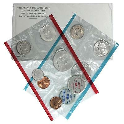 1962 U.s. Mint Set In The Original U.s. Mint Packaging Contains P & D Coinage