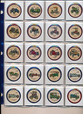 Jell-O Collector Automobile Car Coins 1960's Pick any 1, 2, 5, or 10 or all
