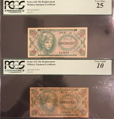 1965-68 10 Cent Series 641 REPLACEMENT Military Payment Certificate Good