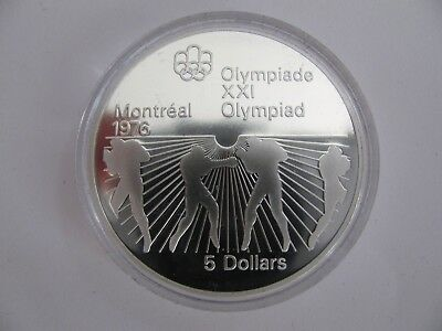 1976 Proof $5 1976 Montreal Olympics #24-Boxing COIN ONLY Canada .925 silver fiv
