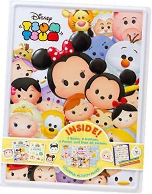 Disney Tsum Tsum Happy Tin W/ 3 Books 4 Markers 1 Poster & Over 50 Stickers, New