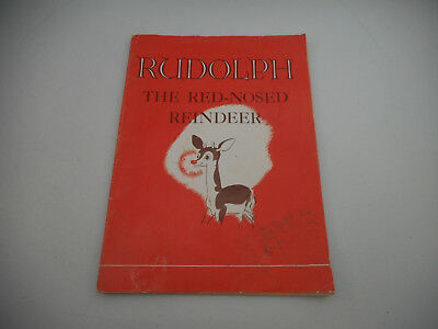 1939 Montgomery Ward Rudolph the Red Nosed Reindeer Storybook