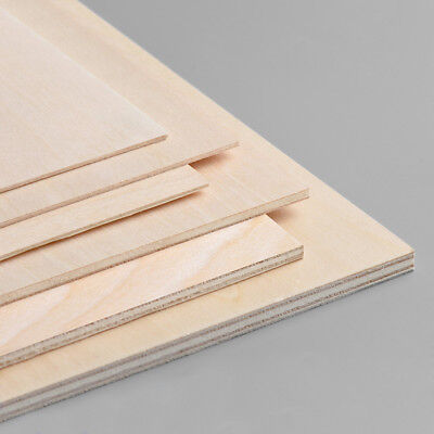 5pcs Wood Board Basswood Plywood Sheet 1.5mm 2mm 3mm 4mm 5mm Thick Multi Size