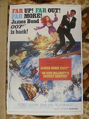 JAMES BOND-  OHMSS  -  PANAFLEX  Poster