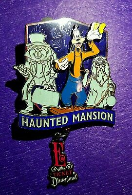 Disney's Haunted Mansion E Ticket Annual Pass holder Hitchhiking Ghost Pin AP