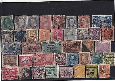 USA - selection of old used stamps