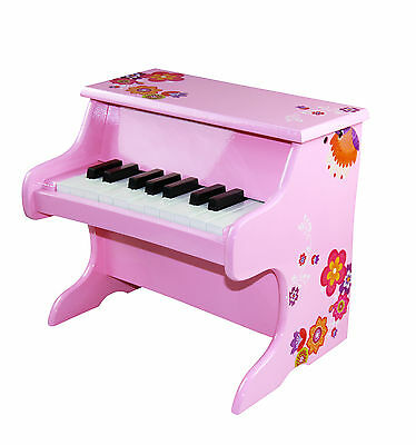 Wooden Kid's Piano Toy 18 Key Girl Musical Instrument