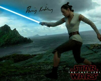 Daisy Ridley Rey Star Wars 8 the Last Jedi Signed Movie Photo Autograph Reprint