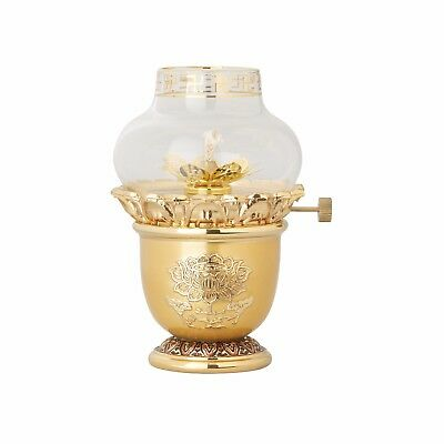 New Brass 24k Gold plated kerosene oil lamp ,Hand Crafted Home deco -