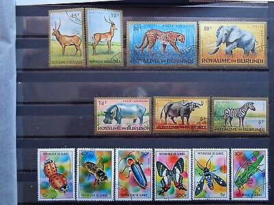 BURUNDI and GUINEE stamps,animal,insect.