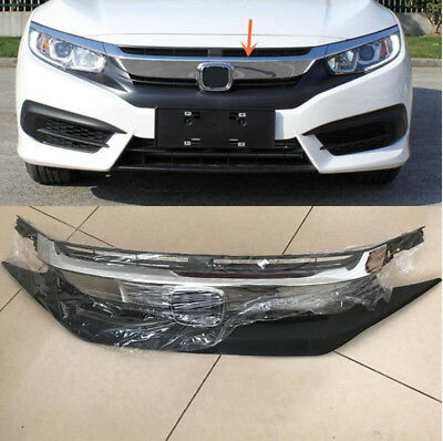 New Front Bumper Upper Radiator Grille Mesh Trim for Honda Civic 10th 2016 2017