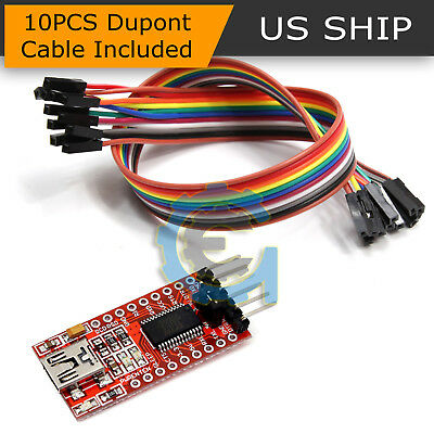 FT232RL FTDI USB 3.3V 5.5V to TTL Serial Adapter Module for Arduino Mini Ports