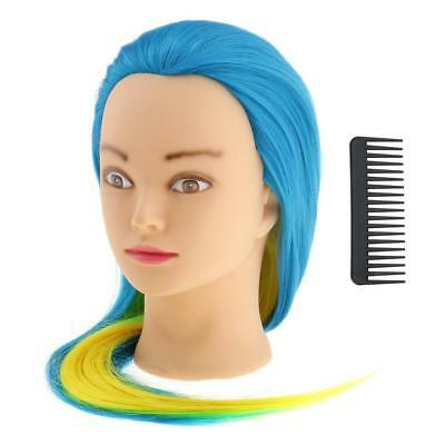"""Hairdressing Training Mannequin Cosmetology Head Pratice Doll Long Hair 26"""""""