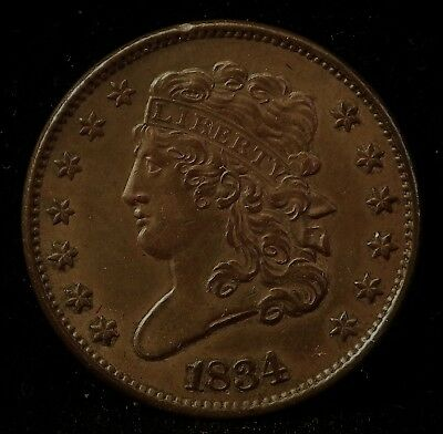 1834 Classic Head Half Cent - Choice AU
